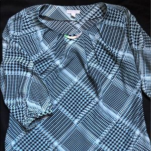 New York & Co blue blouse
